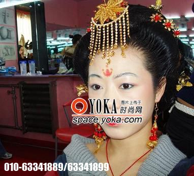 唐妆发型步骤图解新娘分享展示